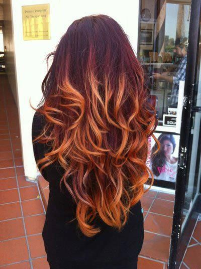 ombre warm hair color